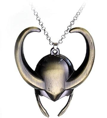 Amazon.com: Marvel casco de Loki colgante collar: Jewelry
