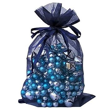 Amazon.com: Grandes bolsas de organza 10 Color Azul Marino 8 ...