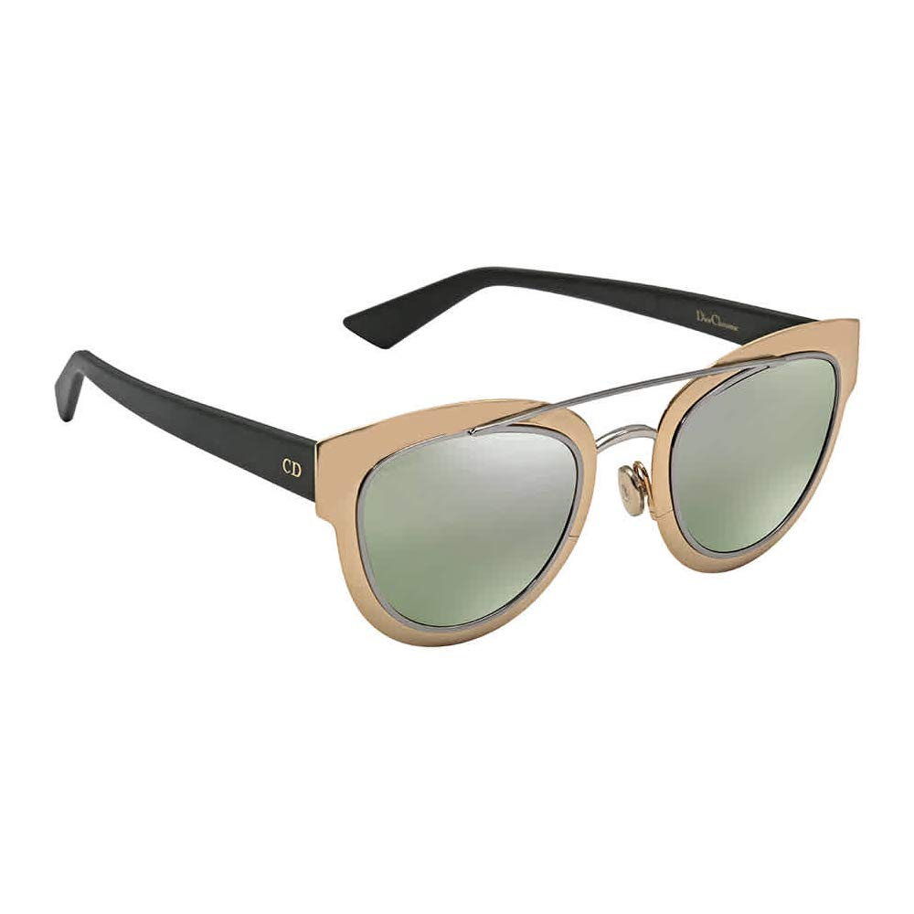 35891795d7ef Amazon.com: CHRISTIAN DIOR CHROMIC Sunglasses Green Gold Mirrored LMM9G  47mm: Clothing