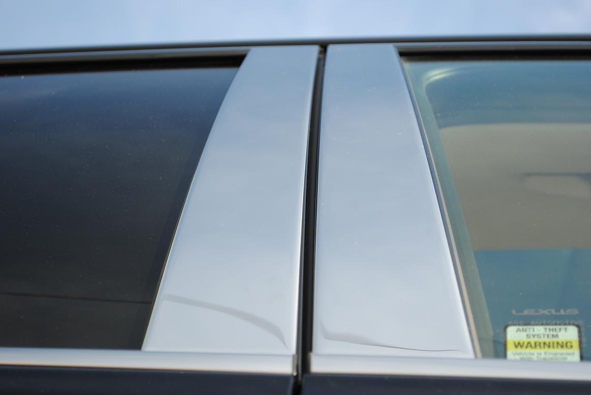 Kia Rio exterior acero inoxidable cromo pilar puestos Juego de tapacubos 2006 2007 2008 2009 2010 2011: Amazon.es: Coche y moto