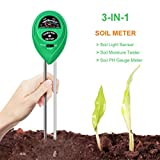 Soil Tester, Hompie 3-in-1 Soil Moisture Meter, PH Acidity...