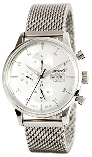 Ingersoll Men's IN2819WHMB Columbia No. 1 Analog Display Automatic Self Wind Silver Watch