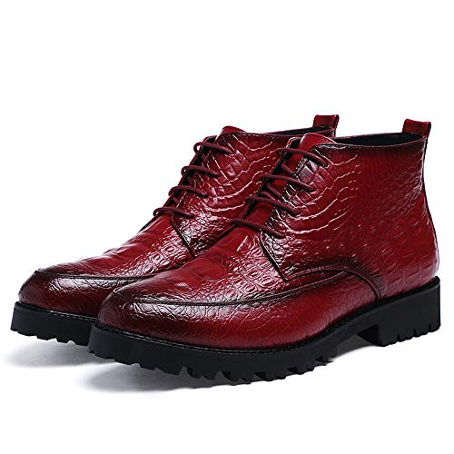 casual Color Avant Business Crocodile Nero Tattoo Uomo garde Scarpe Oxford Fashion shoes Vino uomo Pelle Trend da Xiaojuan 38 Stivaletti EU Dimensione 0aESfw