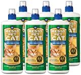 MESSY PET Brand – CAT Stain and Odor Remover, 6 pack 32 fluid ounces (192 fluid ounces total), My Pet Supplies