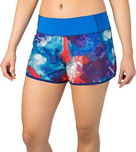 Reebok Women's Printed Running Shorts, (Watercolor Multi Layers, XL)
