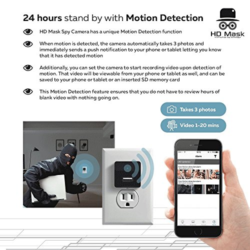 Hidden Camera System 1080P WiFi Motion Detection - iPhone / - Import
