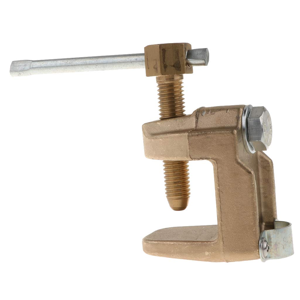 Flameer C-Ground Welding 600A Earth Clamp for Welders 0.85kg Full Solid Brass by Flameer
