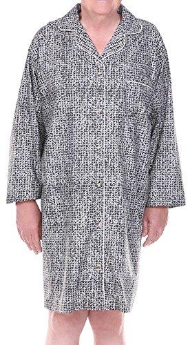 Home Care Line Dignity pajamas Mens Cotton Long sleeve open back hospice pajamas SzS-M by Dignity Pajamas