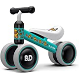 XJD 8 Colors Baby Balance Bike, Toddler Trike, Kids Tricycles, Lightweight No Foot Pedal Push and Ride Bicycle, Infant Walker for Ages 10 to 24 Months Boys or Girls Indoor Outdoor