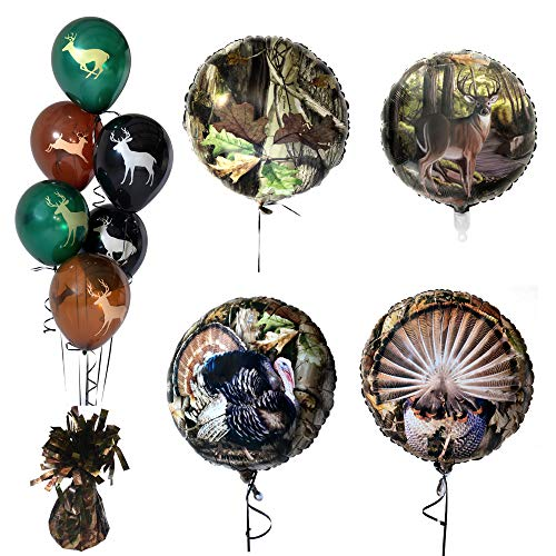 Havercamp Next Camo Balloon Set | Balloons, Balloon Weight | Great for Hunting Parties, Outdoor Enthusiasts, Nature Lovers, Camouflage Themed Occasions (Turkey Decorations Ideas)