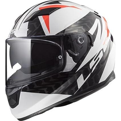 Amazon.es: LS2 Casco de moto Stream Evo Comander blanco, negro, rojo, blanco/negro/rojo, talla XL