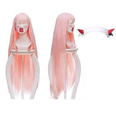 Amazon.com Darling in The FRANXX Cosplay Wig Zero Two