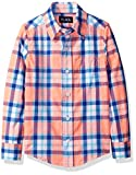 The Children's Place Big Boys' Plaid Woven Shirt, Coral Rocket, XS (4)