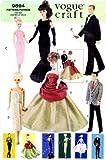 Vogue 9894 Barbie Ken Vintage Fashion Doll Clothes Sewing Pattern