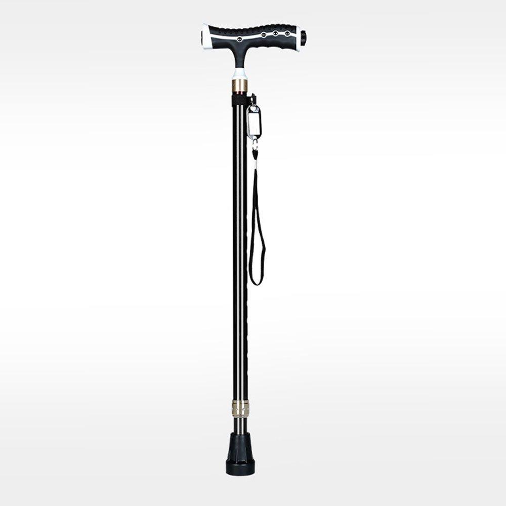 Spazierstock 72-95cm Höhenverstellbarer Spazierstock Einfach Tragbares Vollleichtes Aluminium Kein Gleitfuß Einfach Spazierstock Geeignet Für 1,4-1,9 M Höhe,Braun 52b5ae