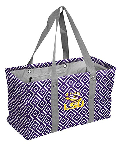 Logo Brands NCAA LSU Picnic Caddy, One Size, Multicolor