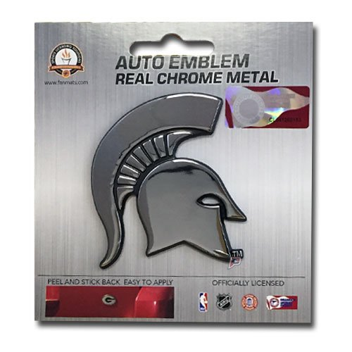 Patch Collection Michigan State Spartans Premium Solid Metal Chrome Plated Car Auto - Michigan State Auto