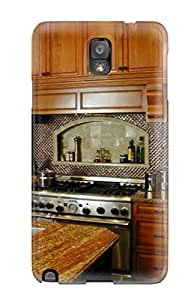Snap-on Case Designed For Galaxy Note 3- Dark Wood Cabinets And Granite Countertops In A Traditional Kitchen