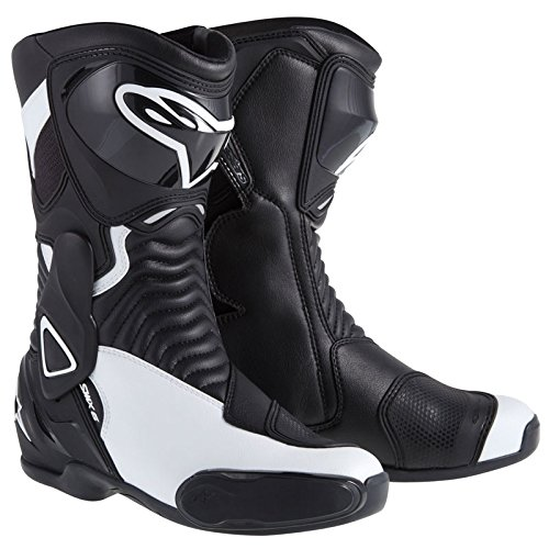 (Alpinestars SMX-6 Women's Street Motorcycle Boots - Black/White / 40)