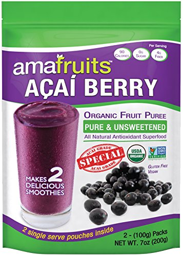 Amafruits Acai Berry Puree - Special Grade - Pure & Unsweetened