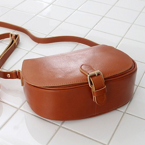 Violett-CINNAMON-L (tan-brown) Leather Crossbody Bag