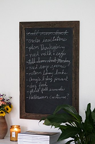 Reclaimed Wood Framed Chalkboard - 23'' x 35'' (CALLIGRAPHY NOT INCLUDED) - Shipping Included by Hurd & Honey