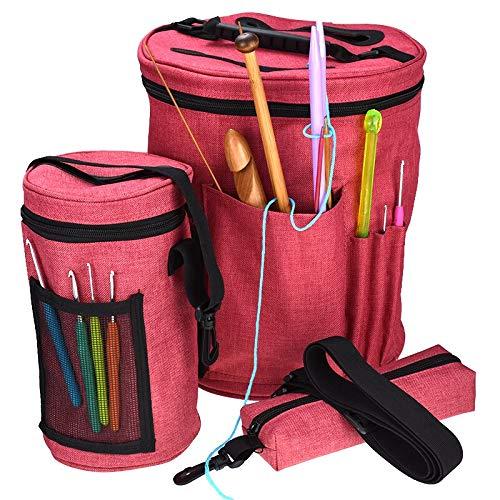 Gift for world 3Pcs/set Yarn Storage Bag Organizer Bag For Crocheting & Knitting Organization Yarn Case Portable Yarn Holder Tote Bag For Women