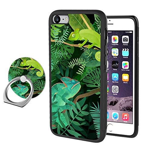 iPhone 7 8 Colorful Chameleon Case with Ring Holder Stand Cellphone 360 Degree Rotating Ring Holder Kickstand Drop Protective Cover for iPhone 7 8 Chameleon Cell Phone Cover Case