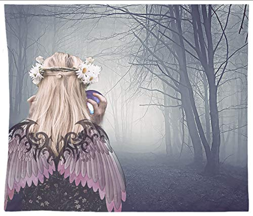 Fairy Lady At Night With Crystal Ball Tapestry Wall Hanging Halloween]()