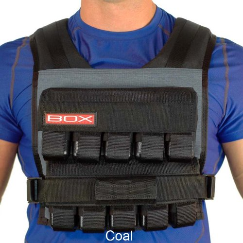 50 Lb. BOX Crossfit Weightvest (Coal) by Weight Vest