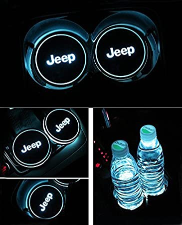 JIanna Voiture Logo LED Tasse Pad LED Tasse Coaster USB Tapis de Rechange Luminescent Tasse Pad LED Mat Inté rieur Atmosphè re Lampe Dé coration Lumiè res (Volkswagen)