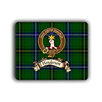 Henderson Scottish Clan Tartan Crest Computer Mouse Pad