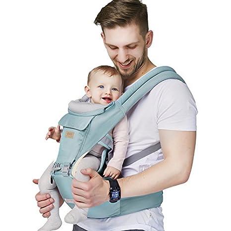 Z ZHIZU Ergonómico Mochilas portabebé Manos libres Fular Portabebés - Portador de Bebé - Todo Natural Portador de Bebé Talla Única Baby Wrap - Baby Carrier ...