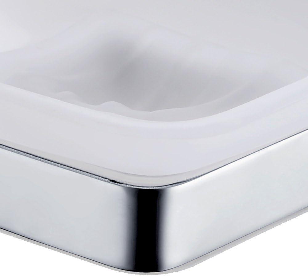 Homovater Seifenschale, Seifenhalter, Seifenhalterung, Dusche Seifenablage,  Seifenkiste, Edelstahl Badezimmer Küche Zubehör,Chrome