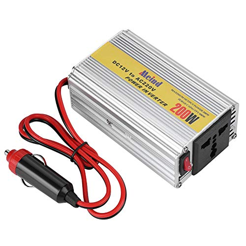 Hakeeta 200W DC to AC Car Power Inverter, DC12V to AC220V Pure Sine Wave Inverter, Modified Sine Wave High Conversion Rate, Maximum 400W Output