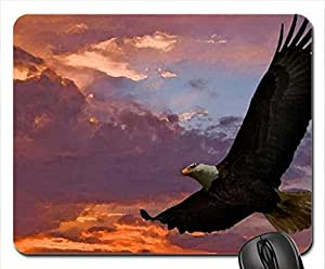 Eagle in the Sky Mouse Pad, Mousepad (Birds Mouse Pad, 10.2 x 8.3 x 0.12 inches)