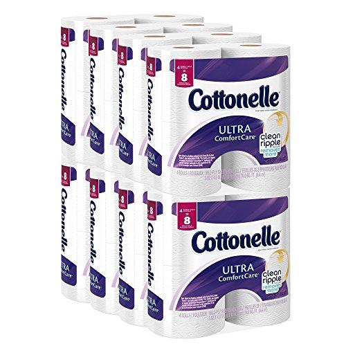 Cottonelle Ultra confort cuidado papel higiénico, doble rollo de economía Plus Pack, cuenta 32