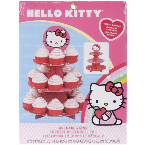 Wilton Hello Kitty Paper Cupcake Stand, Holds 24 -