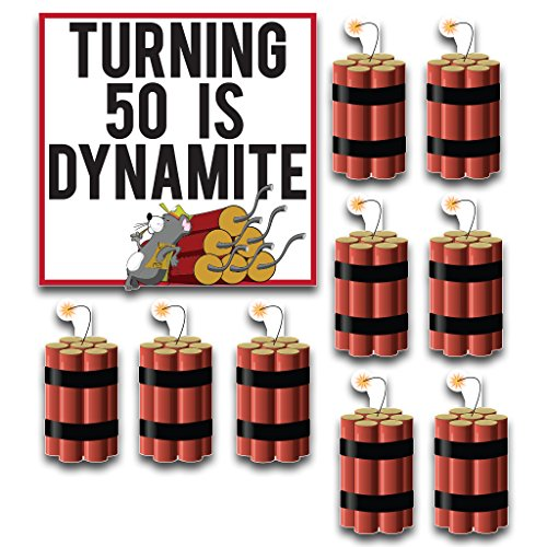 Birthday Yard Cards –Turning 50 Is Dynamite Yard Decoration - 11 Short - Hills Stores Short
