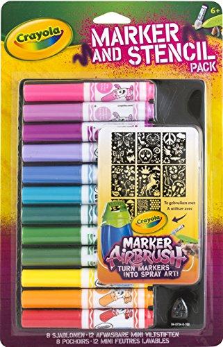 Crayola Girl Airbrush Marker and Stencil - Kids Sport Jim