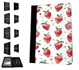 1773 - Strawberries Mini Collage Wimbledon Tennis English Summer Design Amazon Kindle Paperwhite 6'' 2014/2016 Fashion Trend TPU Leather Flip Case Protective Purse Pouch Book Style Defender Stand Cover