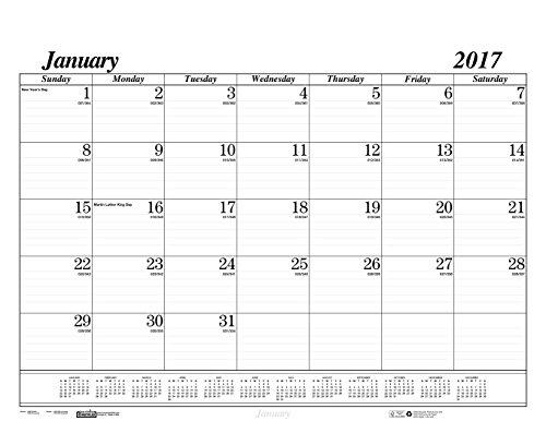 House of Doolittle 2017 Monthly Desk Pad Calendar Refill, Ec