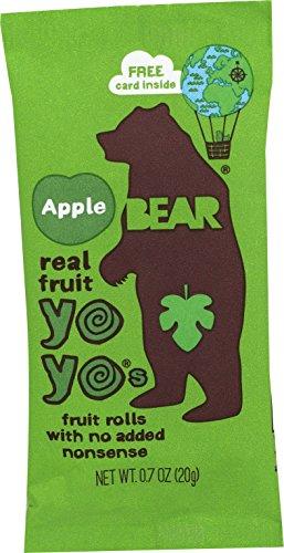 BEAR Real Fruit Yoyos Snack, Raspberry, 6 Count