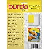 Burda 2GCAR, Yellow & White Tracing Carbon Paper 83x57cm, 2 Sheets