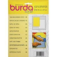 Papel carbón Burda btcpbr 1 amarillo y 1