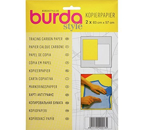 Yellow /& White Tracing Carbon Paper 83x57cm Burda 2GCAR 2 Sheets