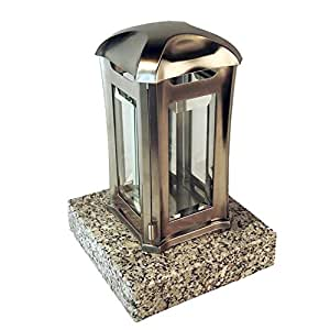 designgrab ael5agb 1schl Grab lámpara Venezia de acero inoxidable, Plata, 13x 13x 24cm