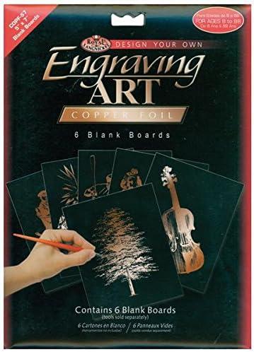 ROYAL BRUSH BEF57-COPF Foil Engraving Art Blank Boards Copper 5 x 7