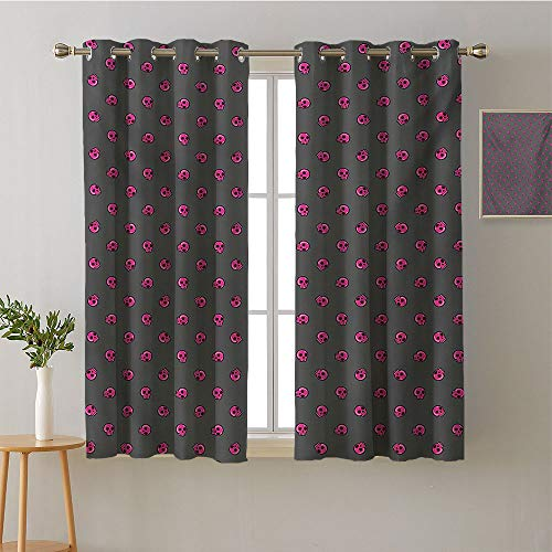 Jinguizi Curtain Darkening Blackout Grommets Darkening Darkening Curtains Decorative Darkening Curtains Modes Darkening Curtains Drapes/Draperies(2 Pieces, 42