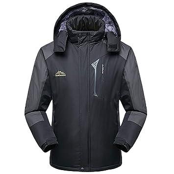 e84844295ca1 TH Meoostny Manteau d hiver en Molleton intérieur pour Hommes Vêtements de  Travail Manteaux Chauds Parkas